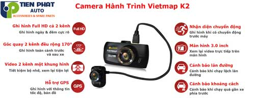 lap camera hanh trinh vietmap K12 Cho Toyota Fortuner