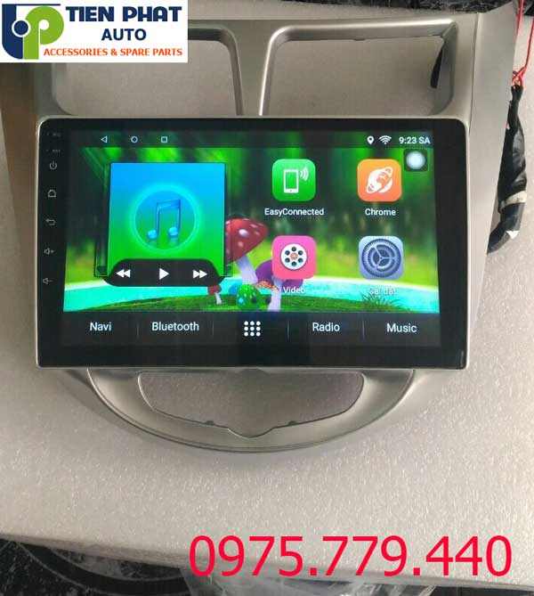 Lắp Màn Hình DVD Android 10 inch Cho Huyndai Acent 2012-2017