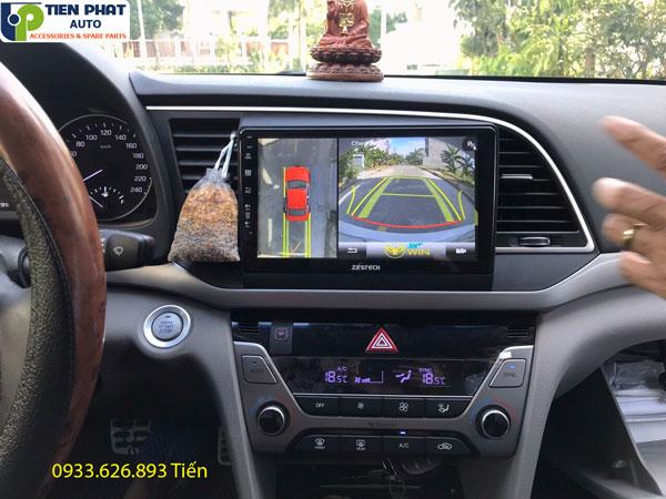 LẮP ĐẶT DVD ANDROID CẮM SIM 4G KẾT HỢP CAMERA 360 ĐỘ CHO HYUNDAI ELANTRA