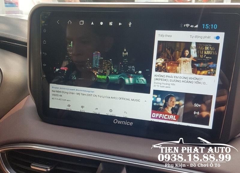 Lắp Màn Hình DVD Android Thế Hệ Mới Cho Xe Santafe 2019 – 2020 Tại Tân Bình