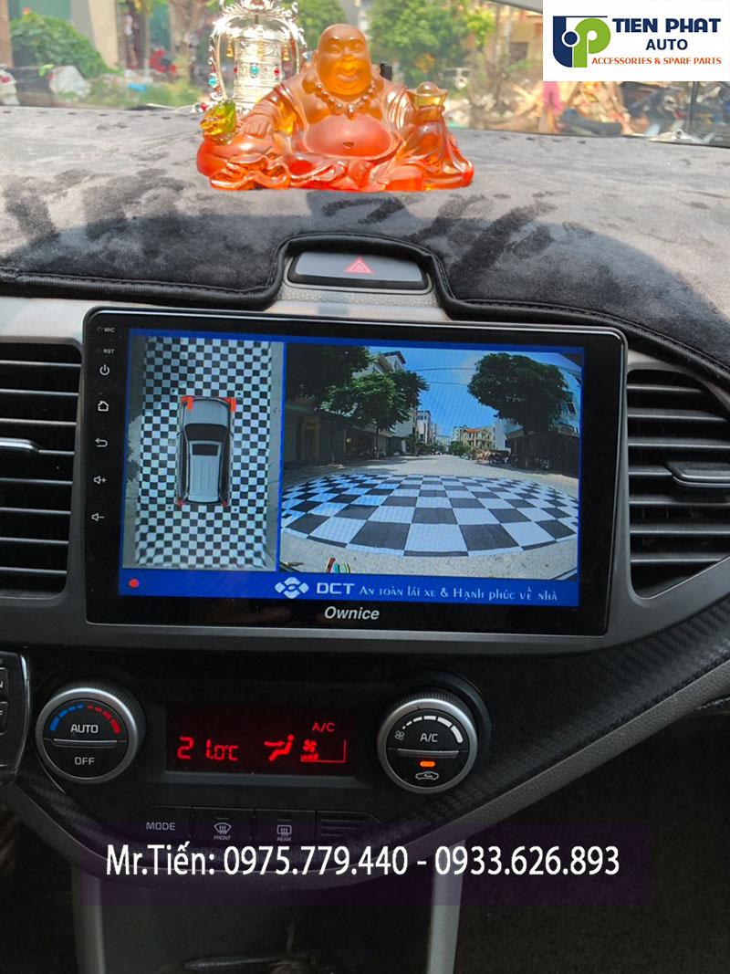 Lên Camera 360 Độ DCT Cao Cấp Nhất Cho Xe Kia Morning