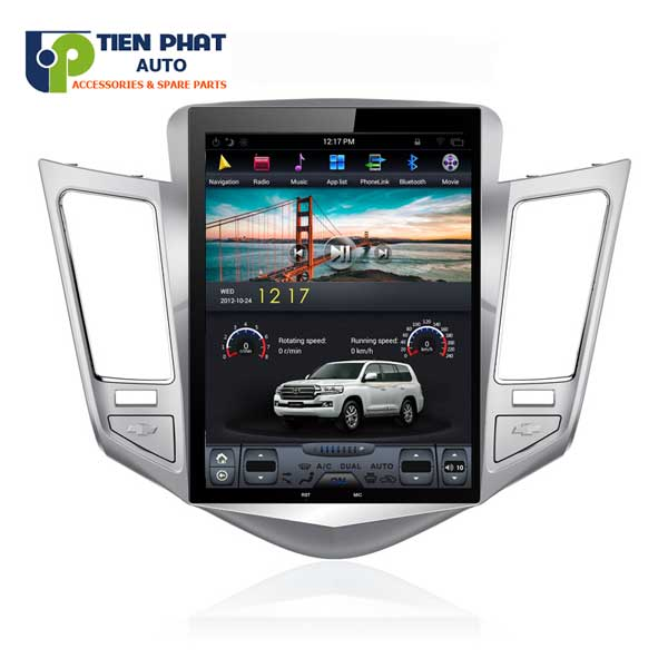 Màn Hình DVD Tesla Cao Cấp 10 inch Cho Chevrolet Cruze Tại Tp.Hcm