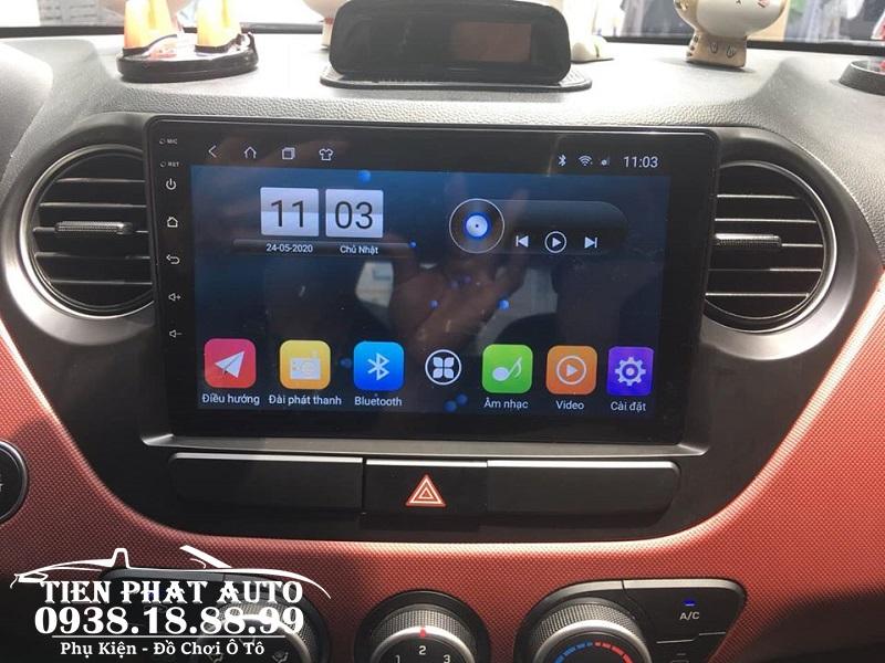 Màn Hình DVD Android Cho Hyundai I10 2014-2018 - Đầu DVD Android Chạy Sim 4G