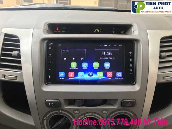 Màn Hình DVD Android Cho Toyota Fortuner 2009-2012 Có Khe Cắm Sim 4G
