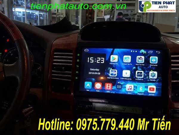 Màn Hình DVD Android Cho Toyota Prado 2005 Mới Nhất Có Sim 4G Tại Tp.HCM