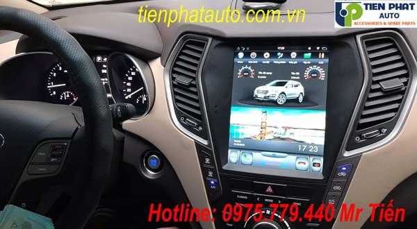 Màn Hình DVD Tesla Cho  Hyundai Santafe 2014-2018 - Màn Hình Rộng 10.4 Inch Tại Tp.HCM
