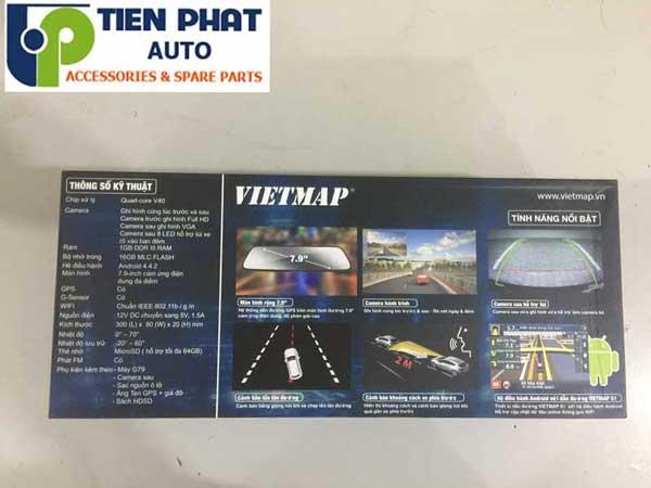 Vietmap G79 Dẫn Đường Tích Hợp Ghi Hình 5 Trong 1 Cho Nissan X-Trail