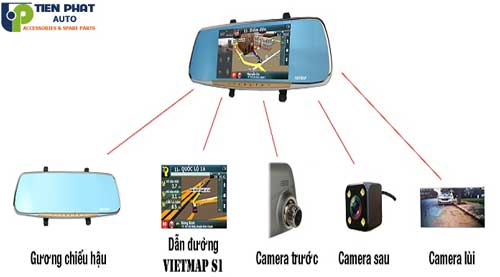 lap camera hanh trinh vietmap A45 cho Toyota Fortuner