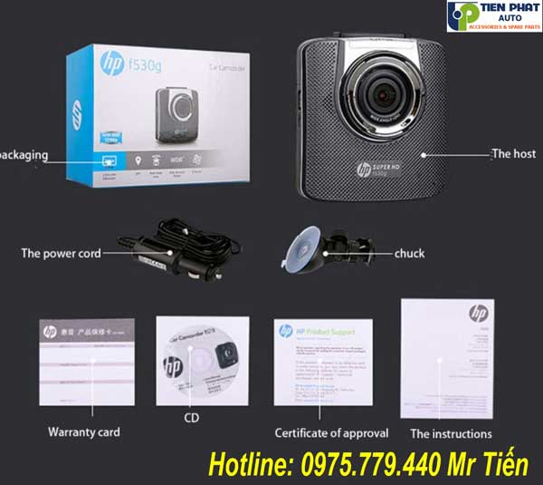Camera Hành Trình HP F530G Giá Rẻ Cho Ô Tô Tại Tp.HCM
