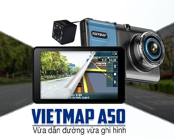 Camera Hành Trình Vietmap A50 Ghi Hình Và Dẫn Đường