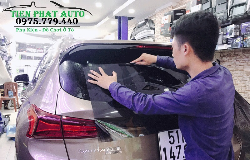 Dán Phim Cách Nhiệt Cho Hyundai Santafe