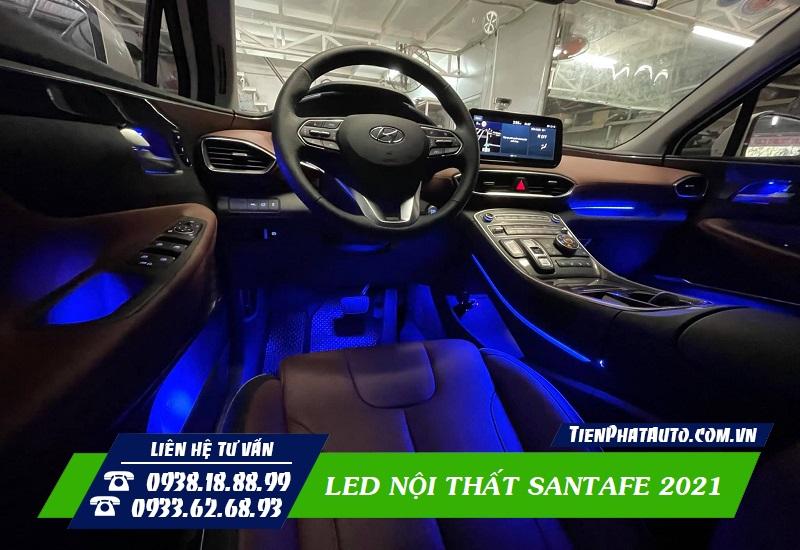 Đèn LED Nội Thất Hyundai Santafe 2021