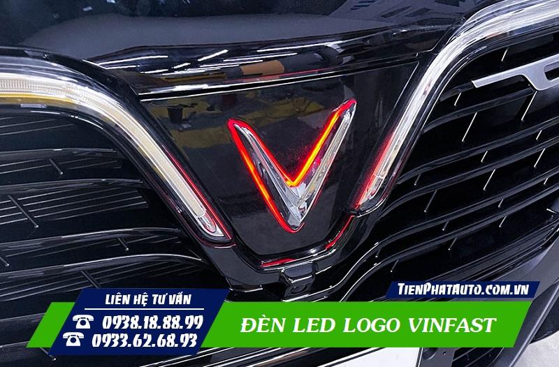 Độ Đèn LED Logo Vinfast Lux A - SA - Fadil