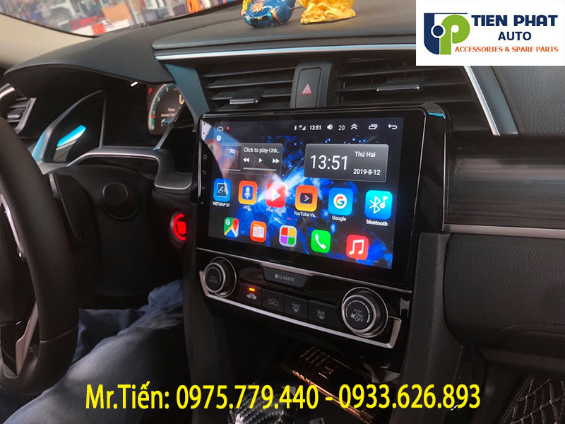 Giá Bao Nhiêu Khi Lắp Màn Hình DVD Android Cho Xe Honda Civic 2019?