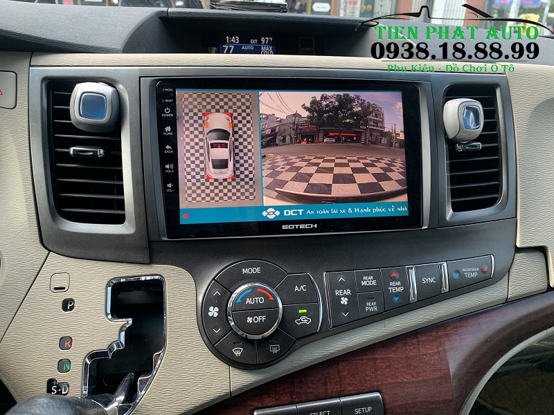 Lắp Camera 360 DCT Cho Xe Toyota Sienna