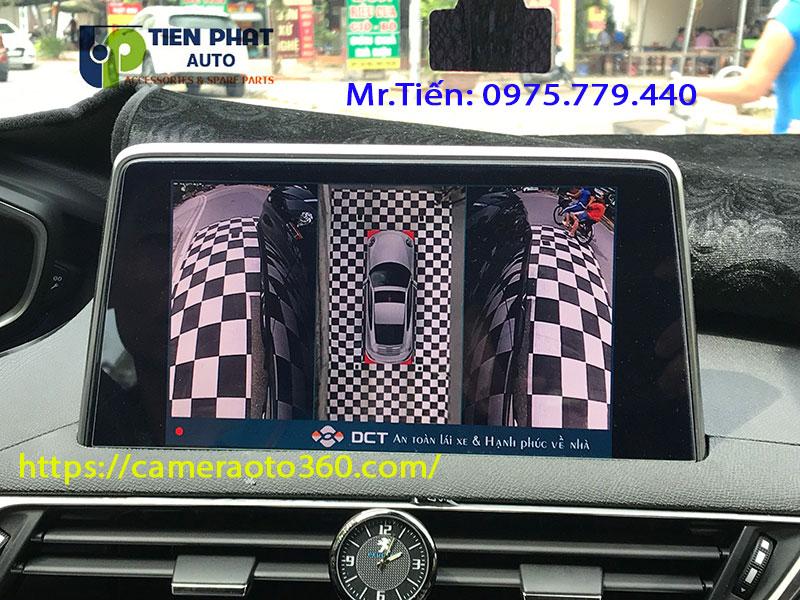LẮP CAMERA 360 ĐỘ DCT BẢN T3 CHO XE PEUGEOT 5008 TẬN NHÀ