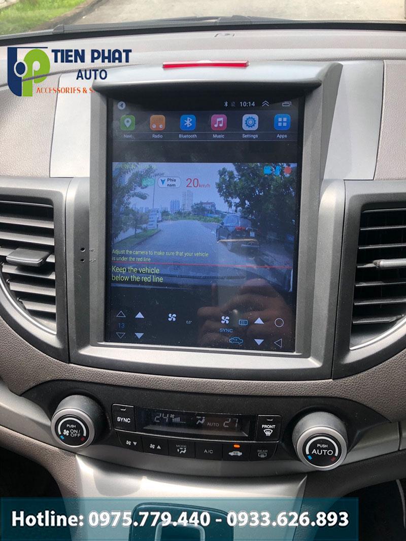 Lắp Đặt Màn Hình Tesla Cao Cấp Cho Xe Honda Crv 2015