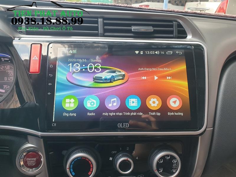 Lắp Màn Hình Android Oled C8 Cho Xe Honda City
