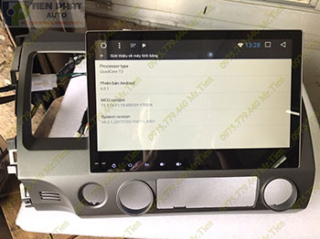 Lắp Màn Hình DVD Android Zin Theo Xe Honda Civic 2010-2011