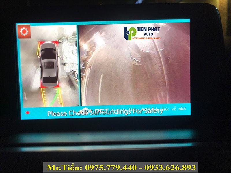 Lên Camera 360 Độ DCT Bản T3 Cho Xe Mazda 6