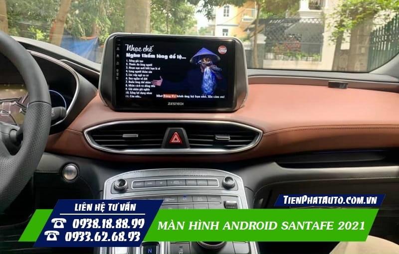 Màn Hình Android Hyundai Santafe 2021