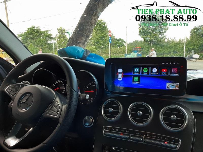 Màn Hình DVD Android Cho Xe Mercedes C200 2017