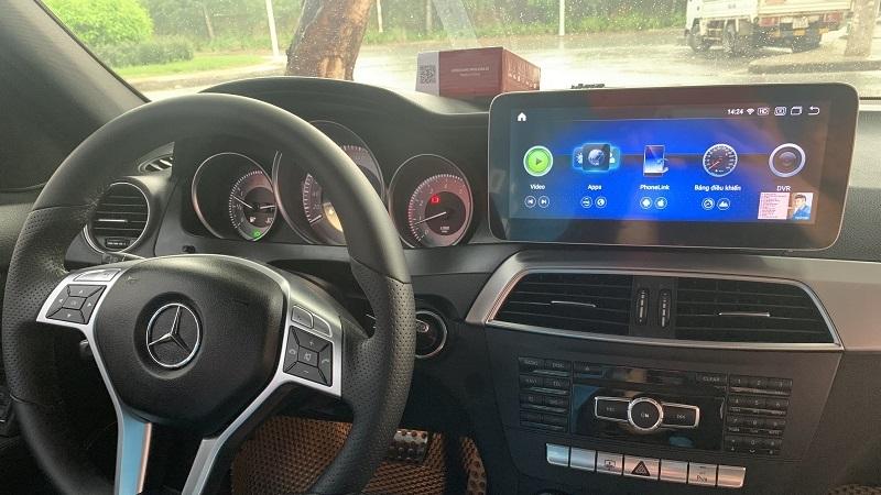 Màn Hình DVD Android Cho Xe Mercedes C300 2011